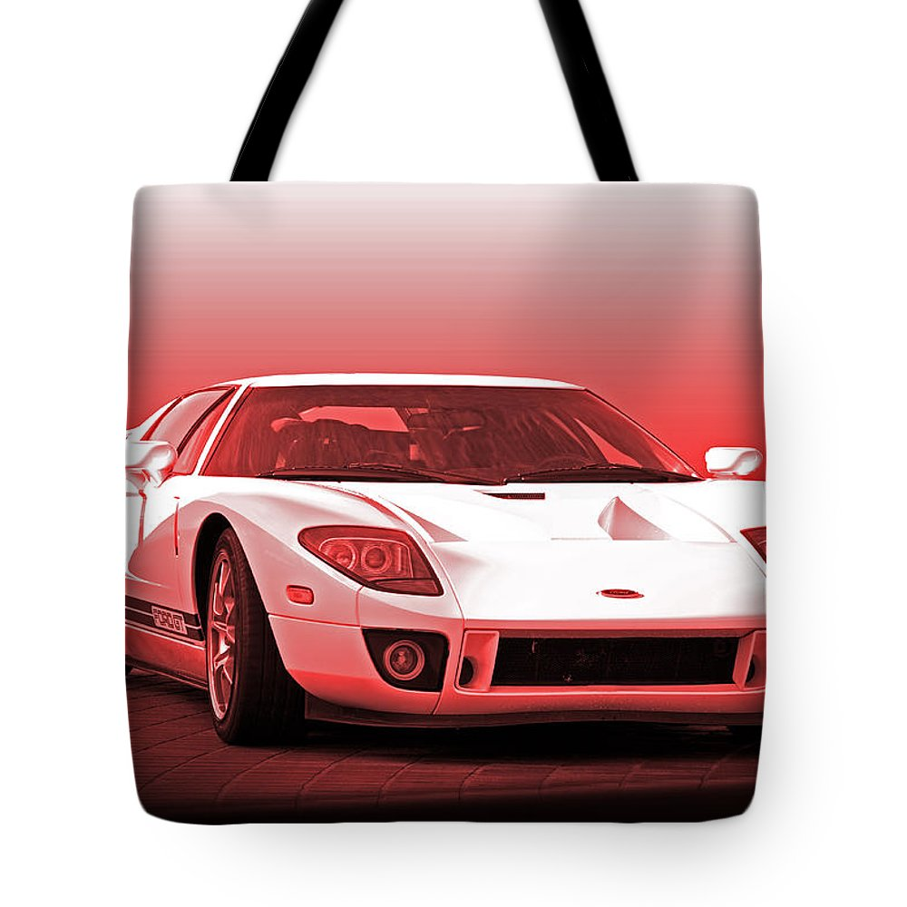 Auto Tote Bag featuring the photograph 2006 Ford Production Gt Ia by Dave Koontz
