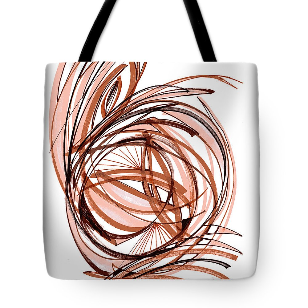 Abstract Art Tote Bag featuring the drawing 2010 Abstract Drawing Six by Lynne Taetzsch