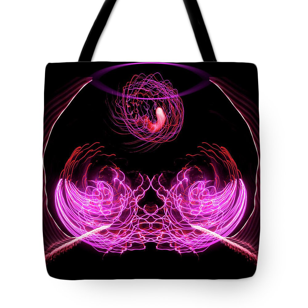 Aspect Ratio 4:5 Tote Bag featuring the photograph 201606040-039b Bowl Of Fireworks 4x5 by Alan Tonnesen