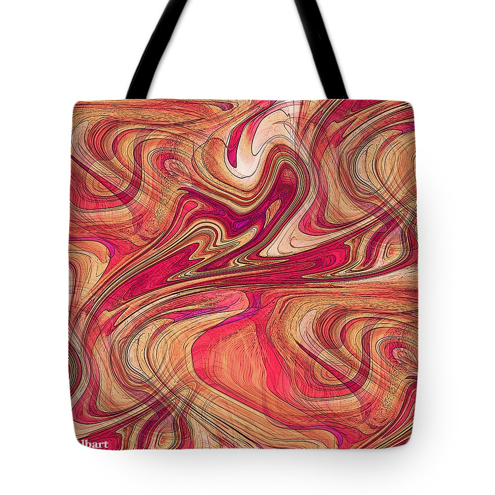 Abstract Art Tote Bag featuring the digital art 2017 #10 by Iris Gelbart