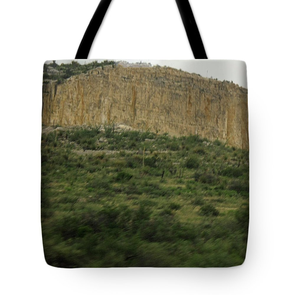 Cliff Tote Bag featuring the photograph Texas Scenic Landscape by James Connor