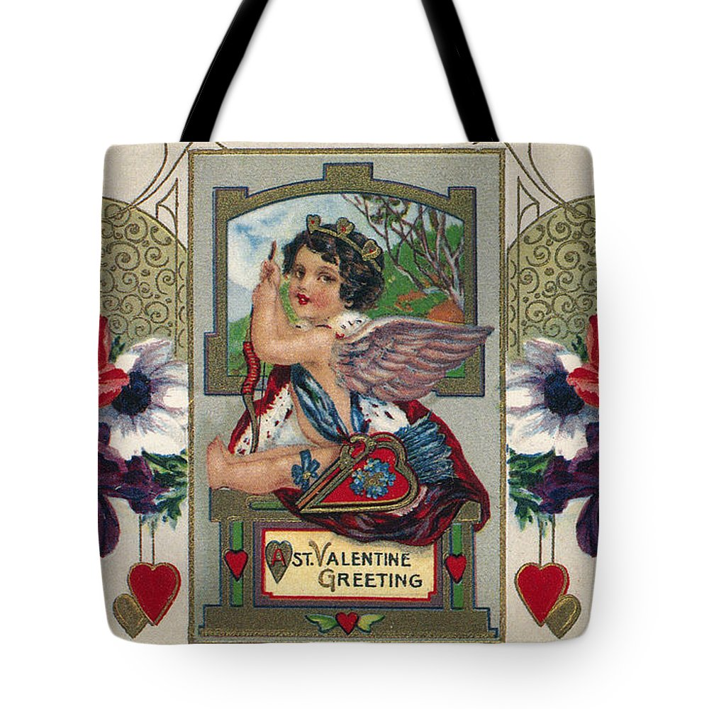 1912 Tote Bag featuring the photograph Valentines Day Card by Granger