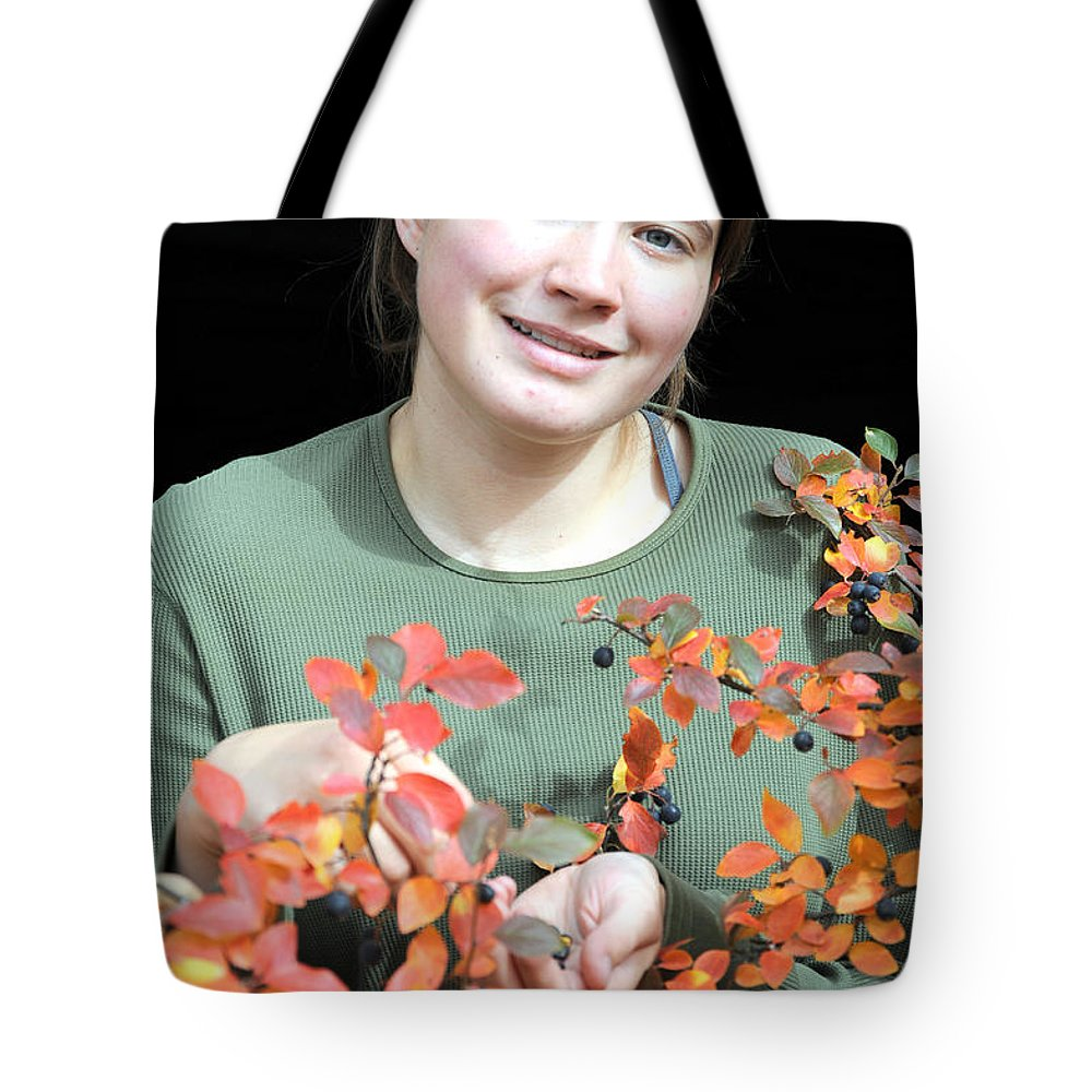 Female Tote Bag featuring the photograph Female Beauty. by Oscar Williams