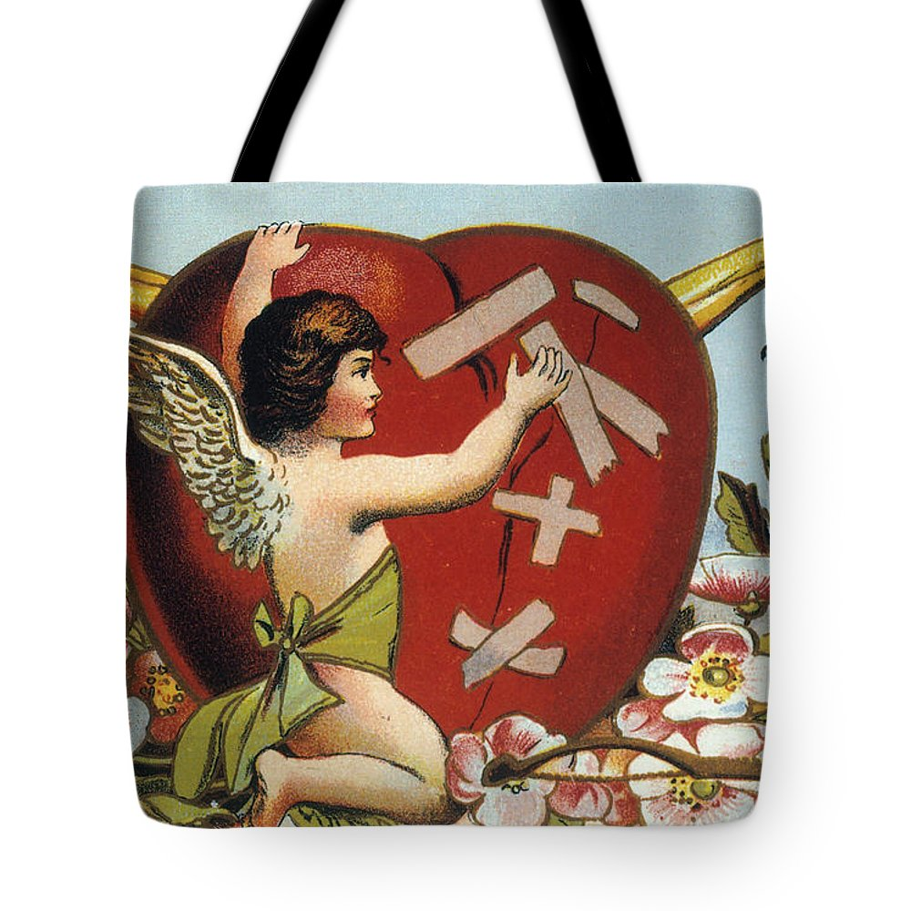 1914 Tote Bag featuring the photograph Valentines Day Card by Granger