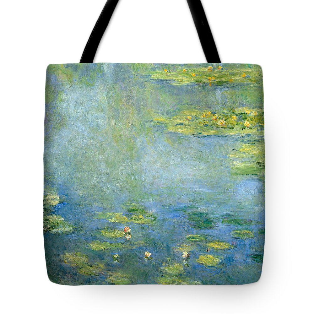 Claude Monet Tote Bag featuring the painting Waterlilies by Claude Monet