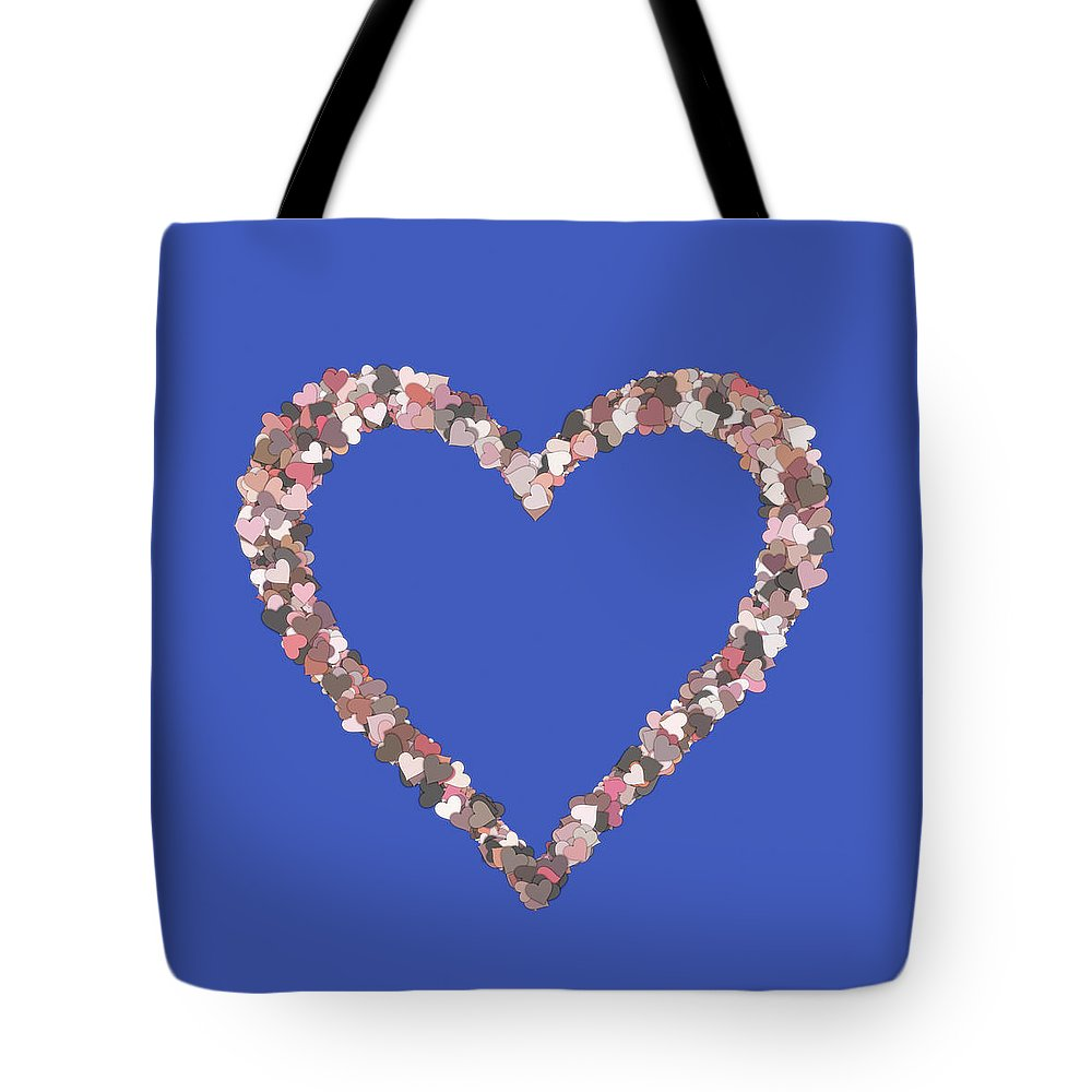 Heart Tote Bag featuring the digital art Love Heart Valentine Shape by Miroslav Nemecek