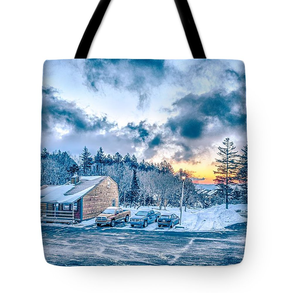 Cass Tote Bag featuring the photograph Beautiful Nature And Scenery Around Snowshoe Ski Resort In Cass by Alex Grichenko