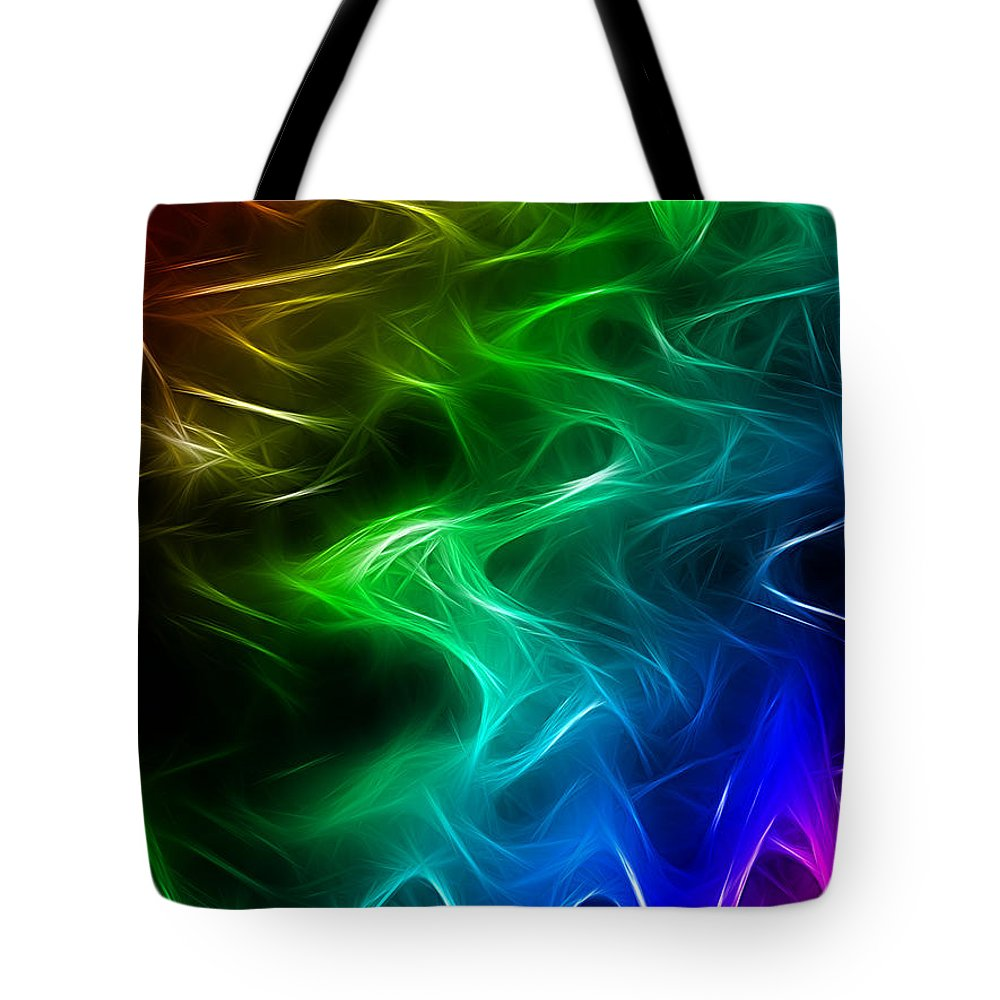 Abstract Tote Bag featuring the digital art Abstract by Galeria Trompiz