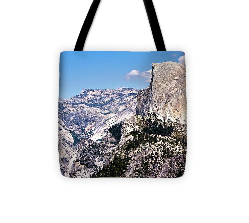Landscape Tote Bag featuring the photograph 265 - Half Dome 2 Hdr by Chris Berry