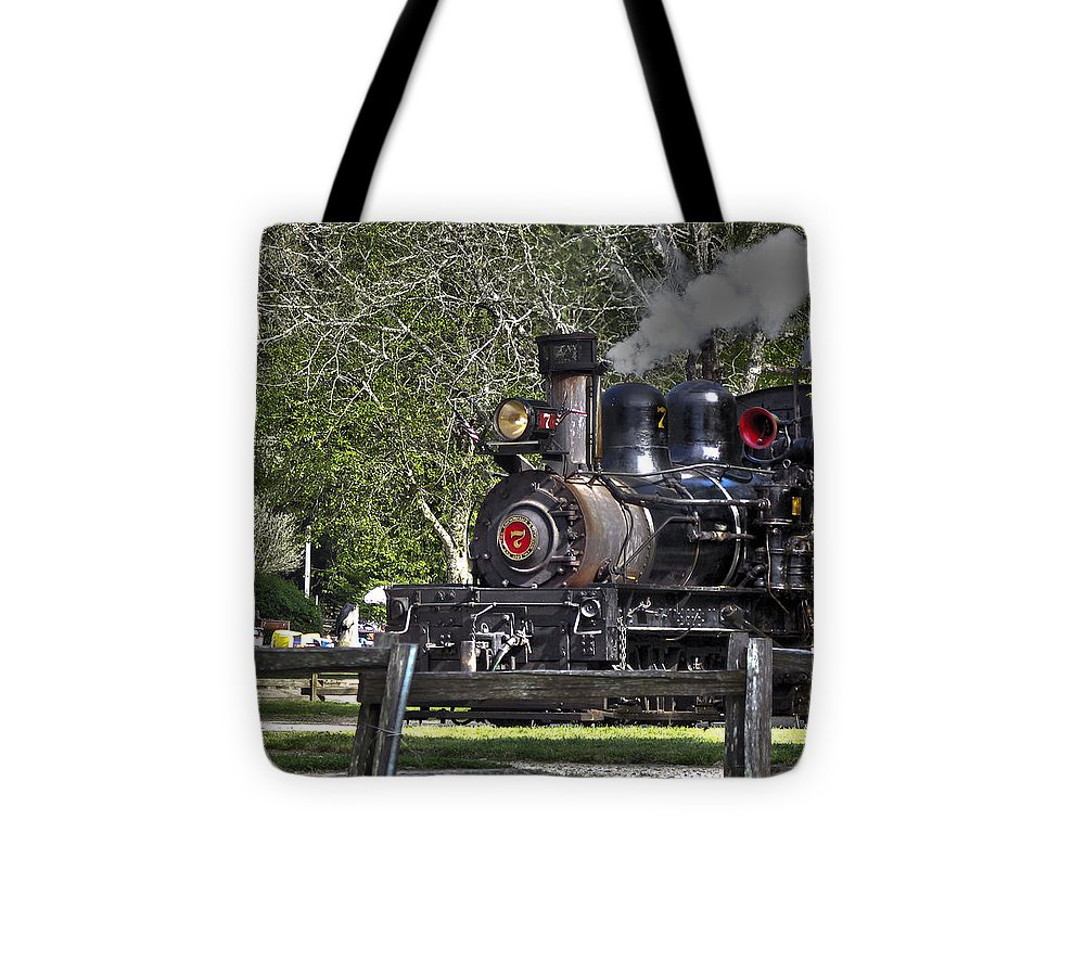 Landscape Tote Bag featuring the photograph 267 - Roaring Camp Train No 7 Hdr by Chris Berry