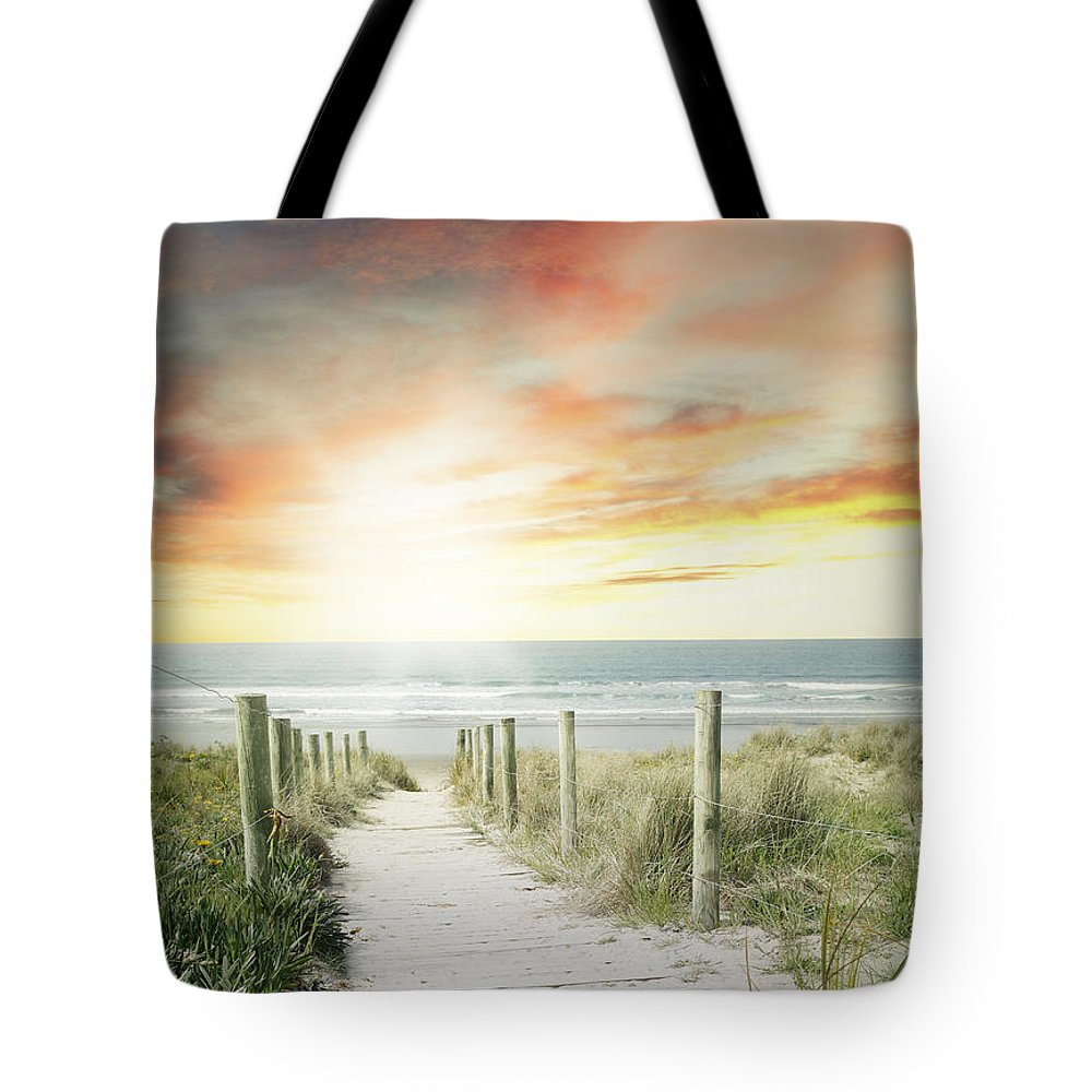 Beach Tote Bag featuring the photograph Beach View by Les Cunliffe