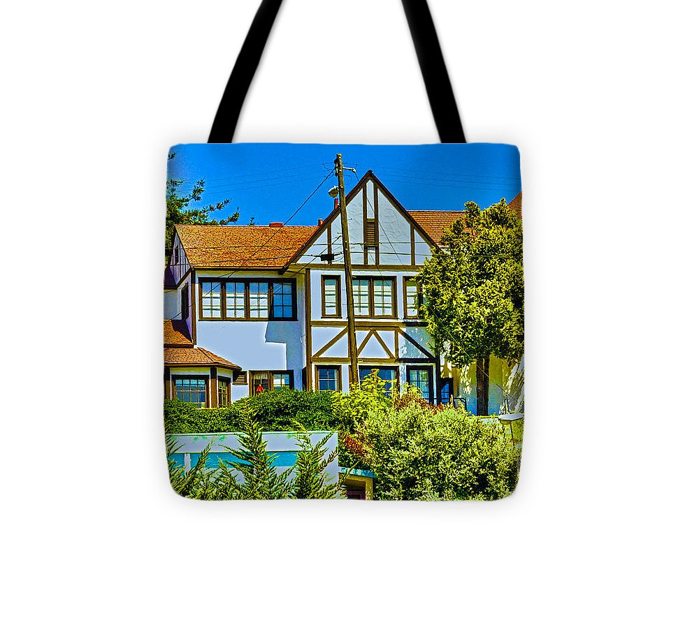 Landscape Tote Bag featuring the photograph 271 - Capitola Village 4 Hdr by Chris Berry
