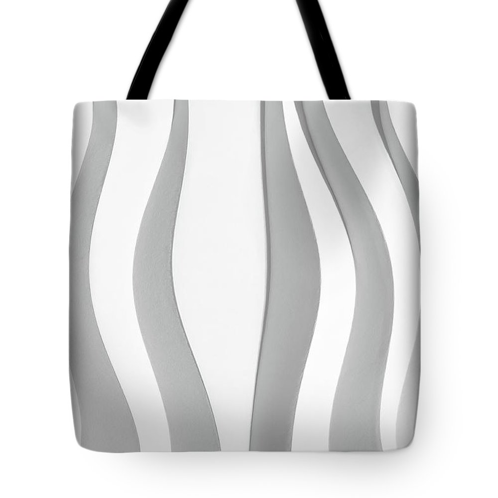Abstract Tote Bag featuring the photograph White Folded Paper by Alain De Maximy
