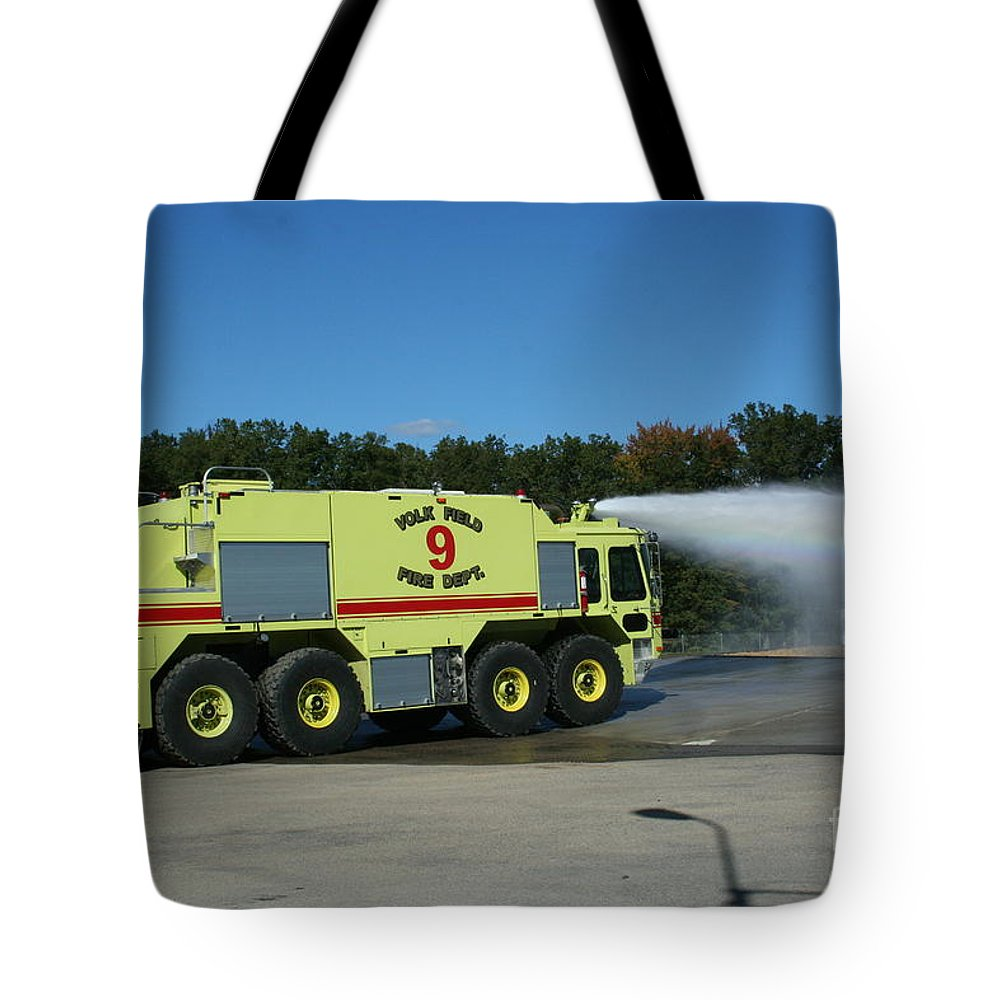 Firefighting Tote Bag featuring the photograph Firefighting by Tommy Anderson