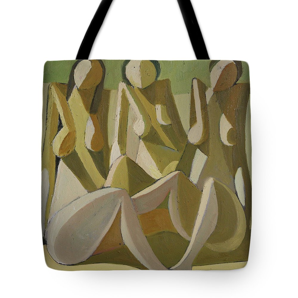 Dimitar Tote Bag featuring the painting 29_46x45 by Dimitar Manolov