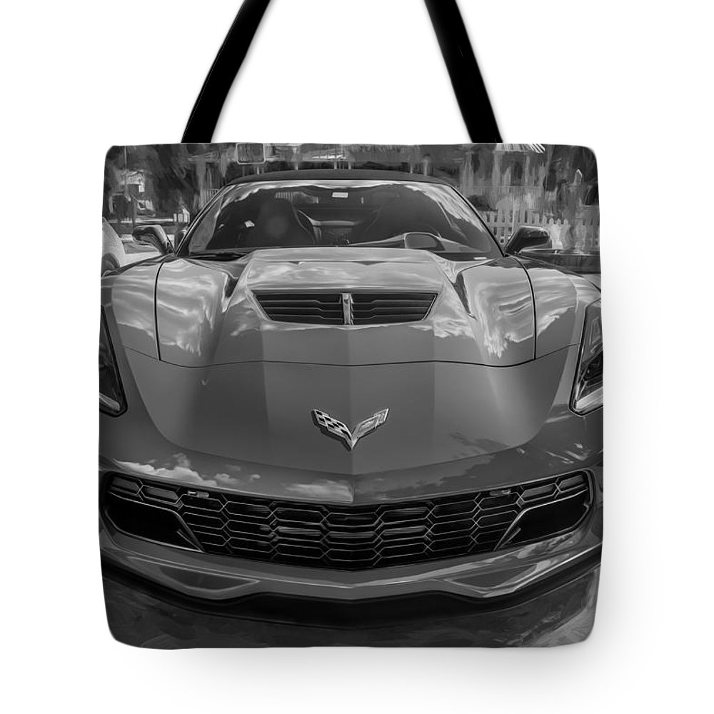 2015 Corvette Tote Bag featuring the photograph 2015 Chevrolet Corvette Zo6 Painted by Rich Franco