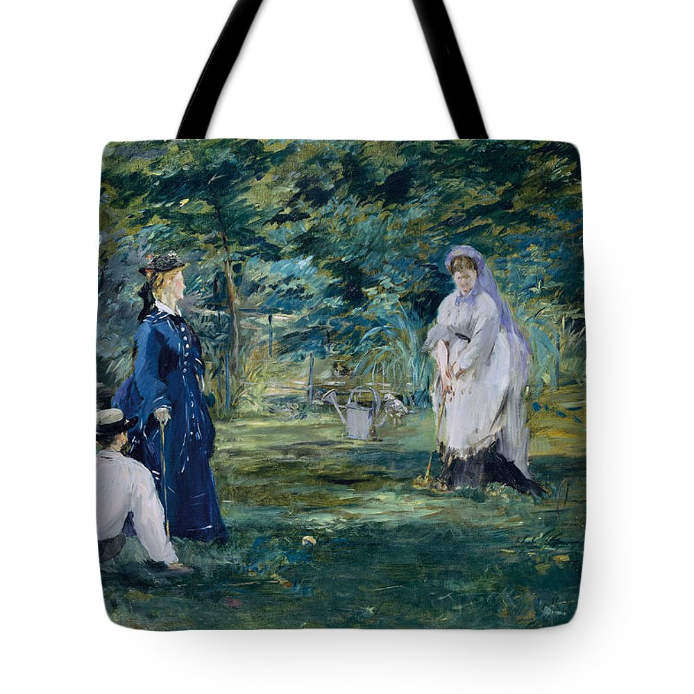 Arts Tote Bag featuring the painting A Game Of Croquet by Edouard Manet