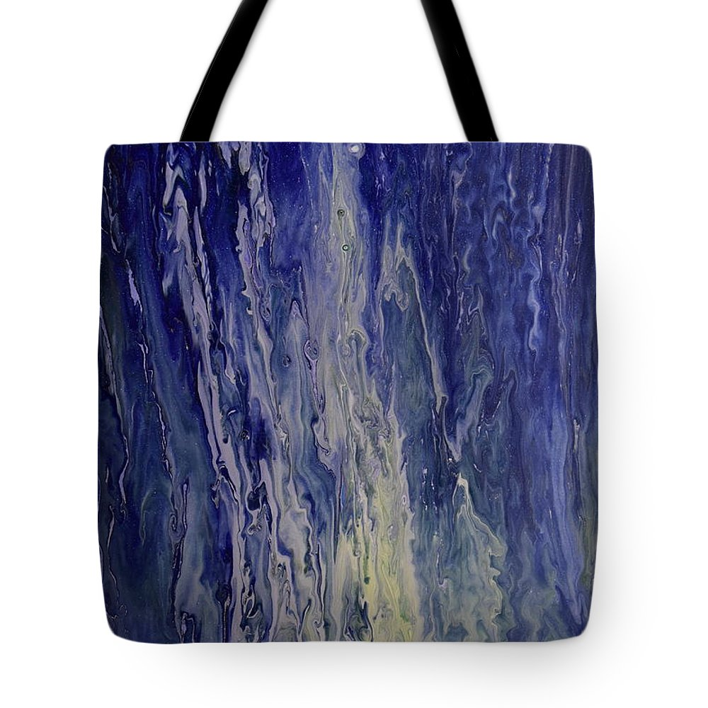 Liquid Tote Bag featuring the painting Acid Rain by Brion McMaster
