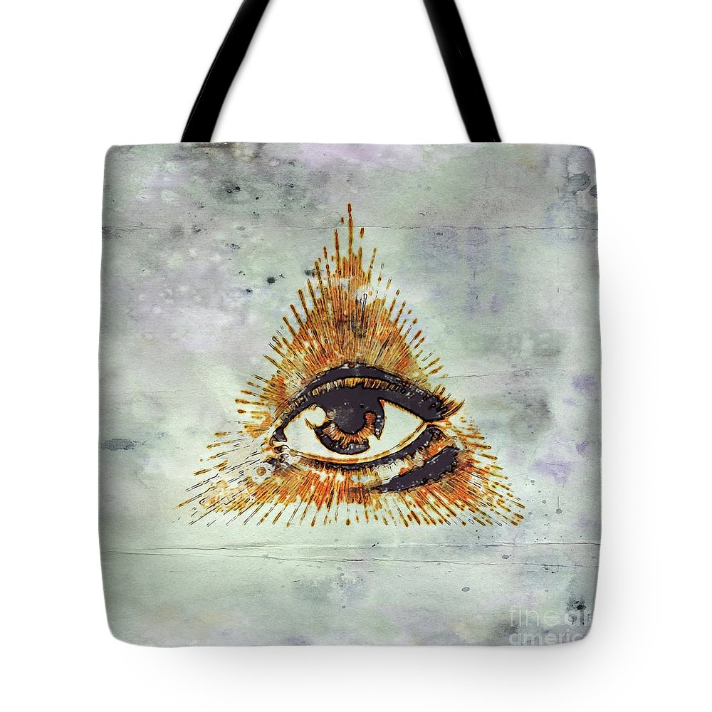 Freemason Tote Bag featuring the digital art Ancient Freemasonic Symbolism By Pierre Blanchard 3 by Pierre Blanchard