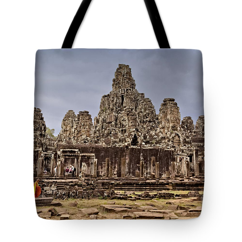 12th Century Tote Bag featuring the photograph Angkor Wat by Juergen Held