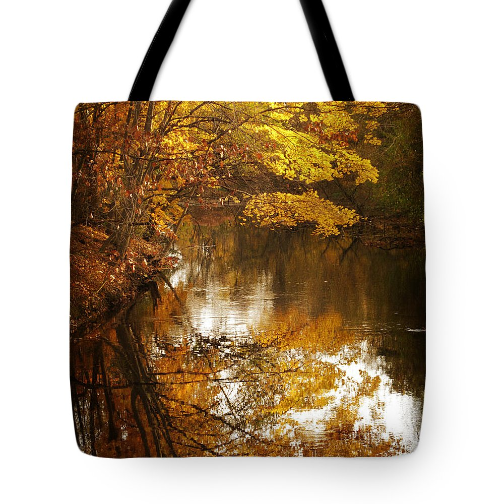 Autumn Tote Bag featuring the photograph Autumn Reflected by Jessica Jenney