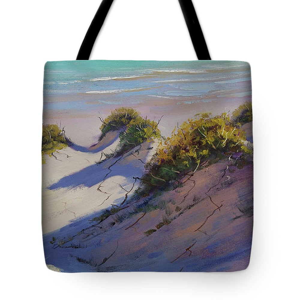Nature Tote Bag featuring the painting Beach Dunes by Graham Gercken