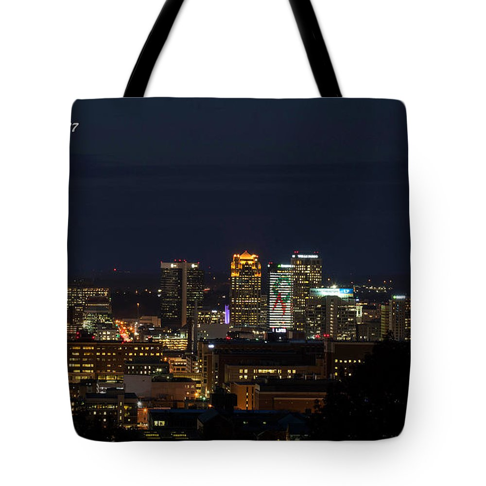 Birmingham Al Tote Bag featuring the photograph Birmingham Skyline by Jeffery Gordon