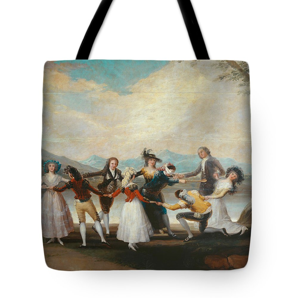 Arts Tote Bag featuring the painting Blind Man's Buff by Francisco Goya
