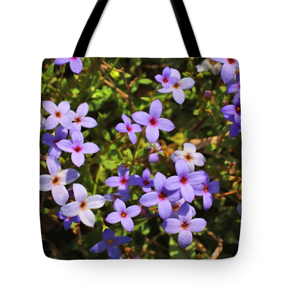 Mosaic Tote Bag featuring the photograph Bluets by Kathryn Meyer