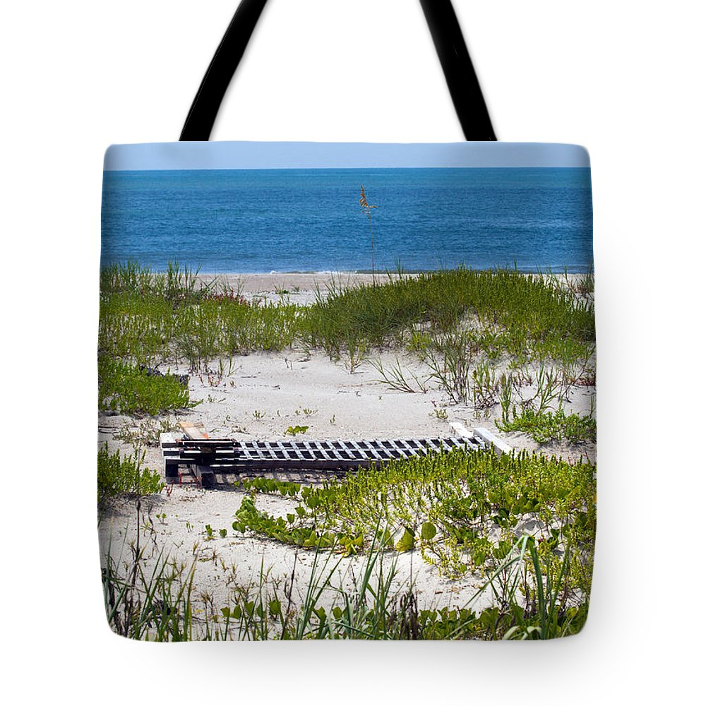 Florida; Beach; Ocean; Waves; Wave; Surf; Sand; Sandy; Coast; Shore; Atlantic; Cape; Canaveral; Scen Tote Bag featuring the photograph Cape Canaveral Florida by Allan Hughes