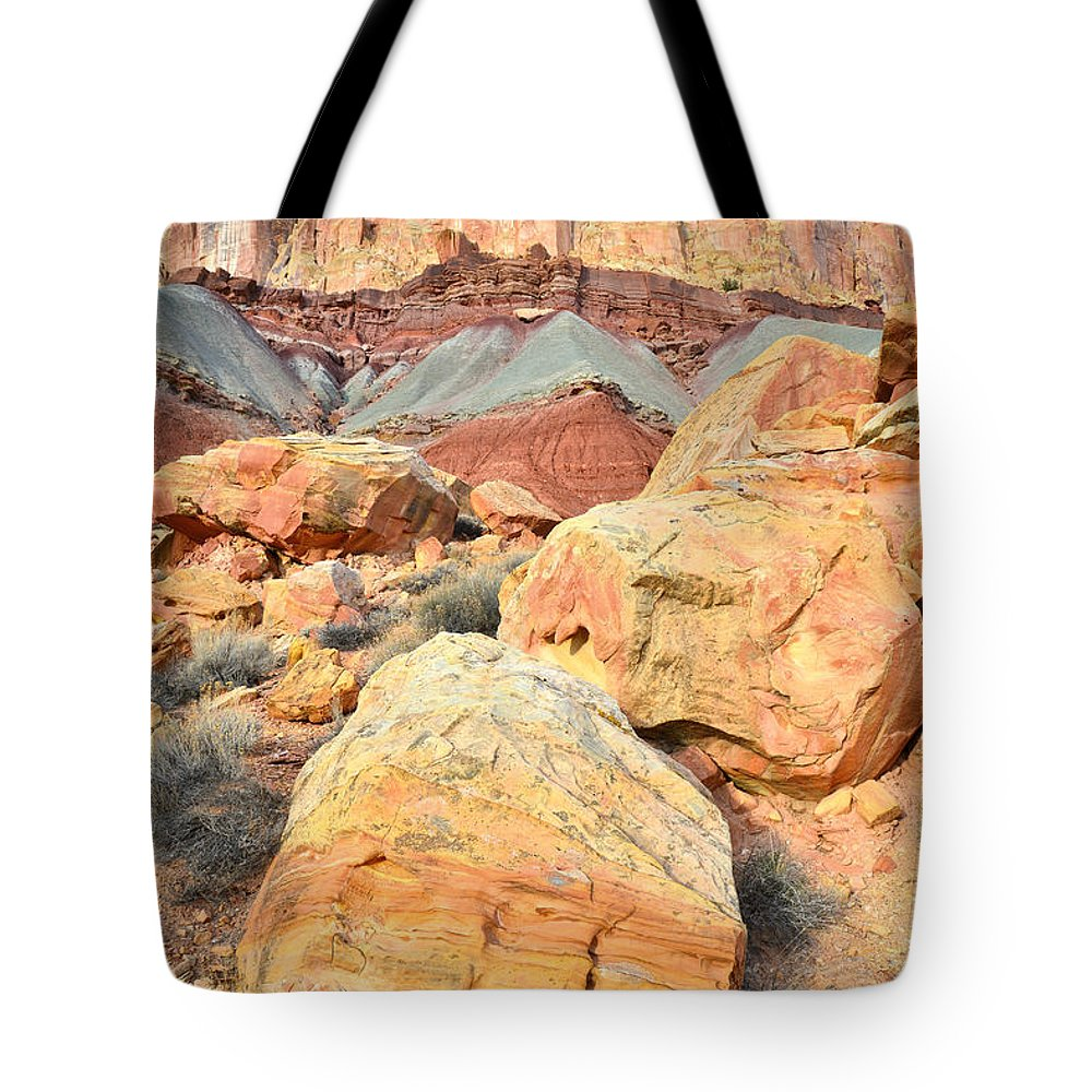 Capitol Reef National Park Tote Bag featuring the photograph Capitol Reef Sunset by Ray Mathis