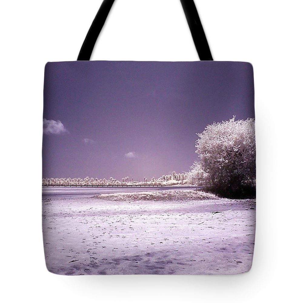 Infrared Tote Bag featuring the photograph Desertic Tree by Galeria Trompiz