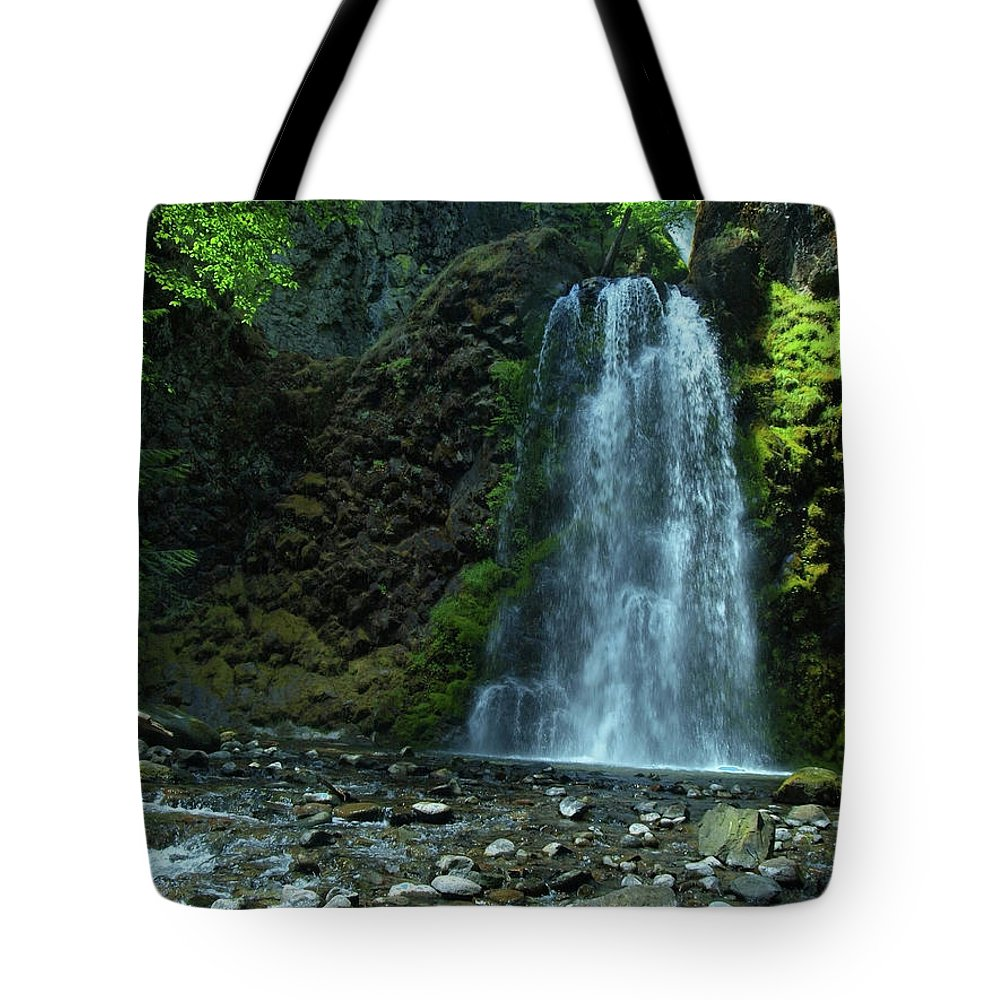 Waterfall Tote Bag featuring the photograph Fall Creek Falls by Teri Schuster