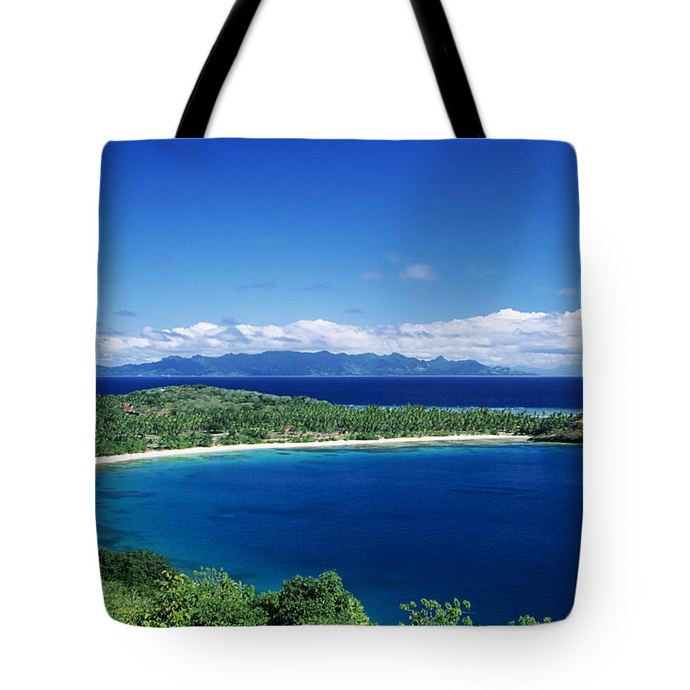 Bay Tote Bag featuring the photograph Fiji Wakaya Island by Larry Dale Gordon - Printscapes
