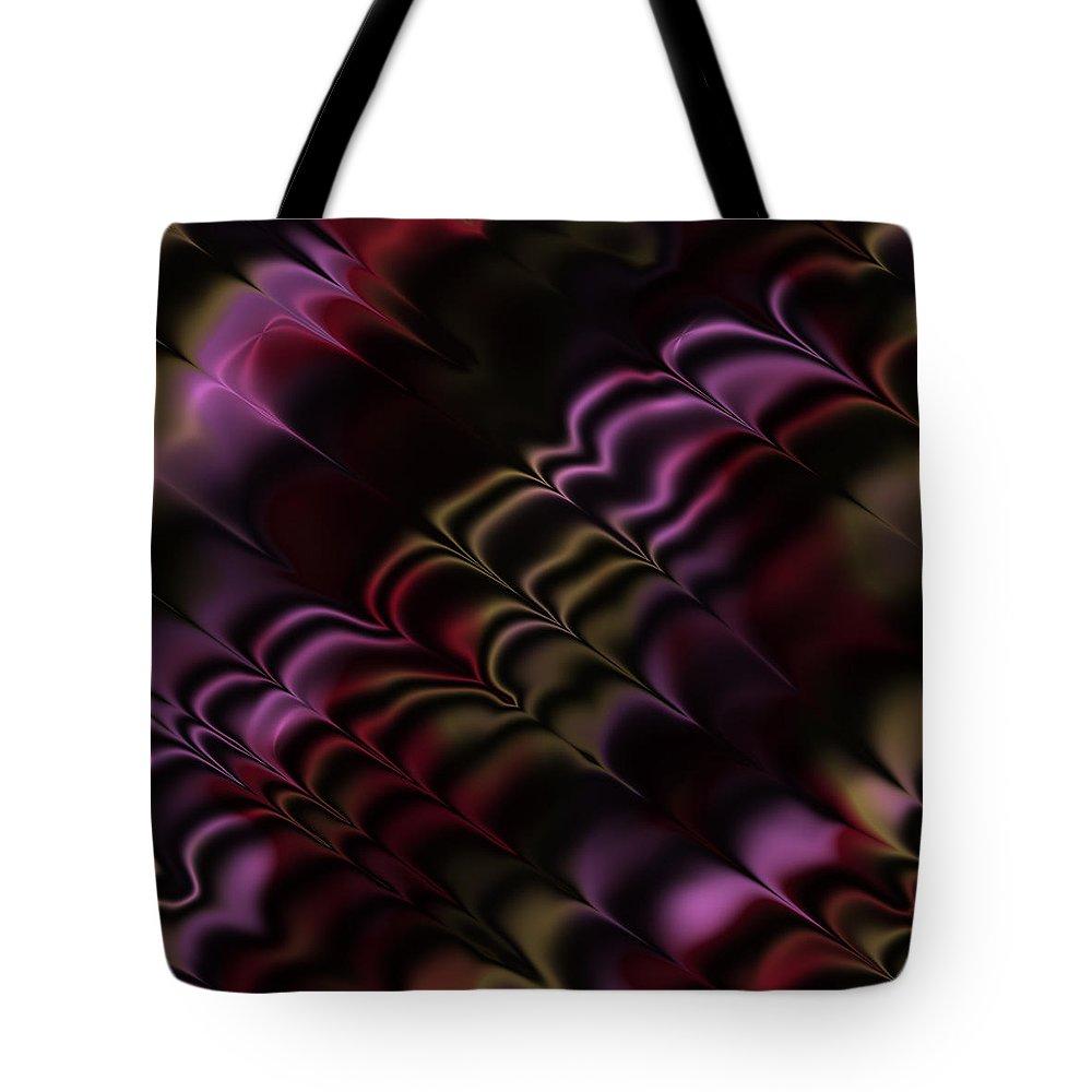 Abstract Tote Bag featuring the digital art Fractal Modern Art Seamless Generated Texture by Miroslav Nemecek