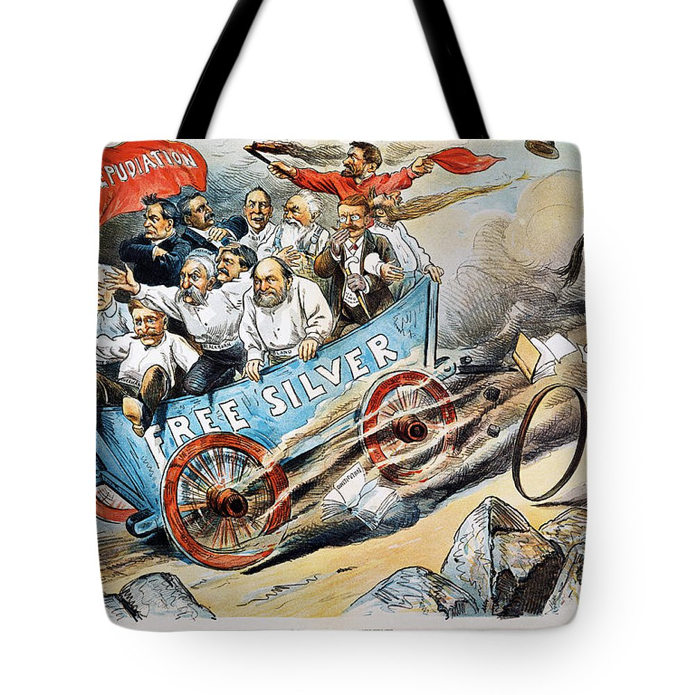 1896 Tote Bag featuring the photograph Free Silver Cartoon, 1896 by Granger