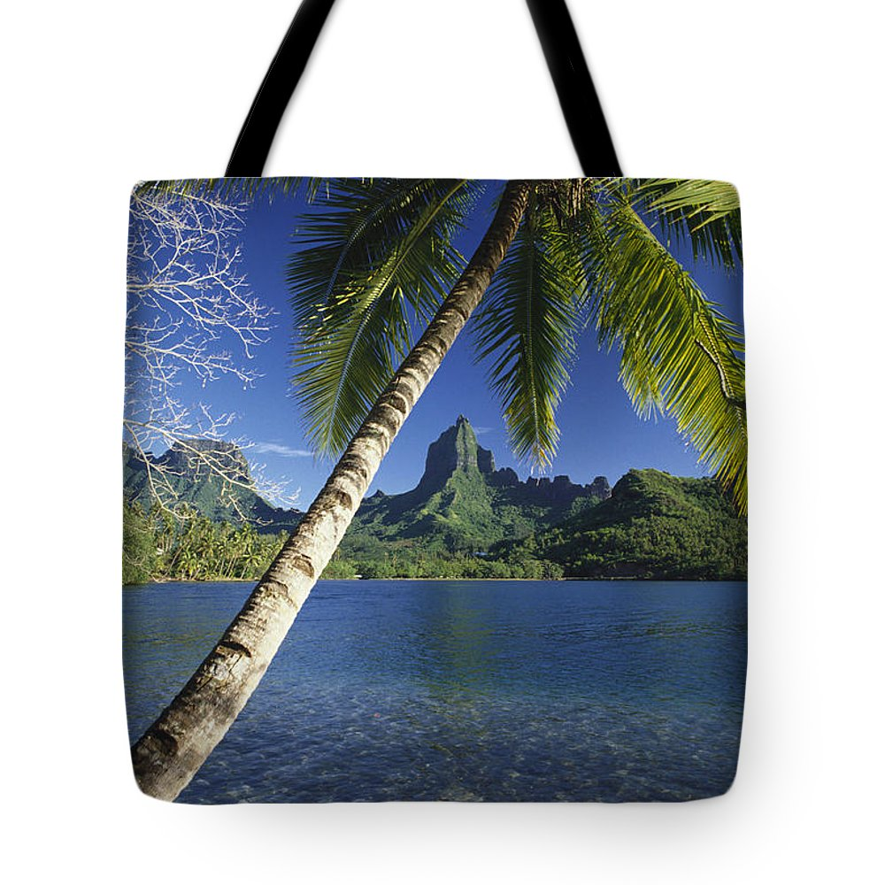 Across Tote Bag featuring the photograph French Polynesia, Moorea by Ron Dahlquist - Printscapes