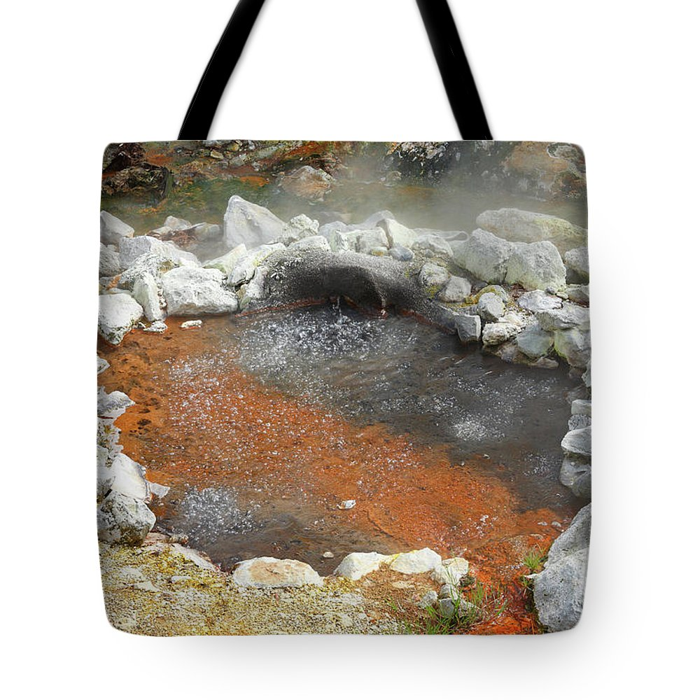 Azores Tote Bag featuring the photograph Furnas - Azores by Gaspar Avila