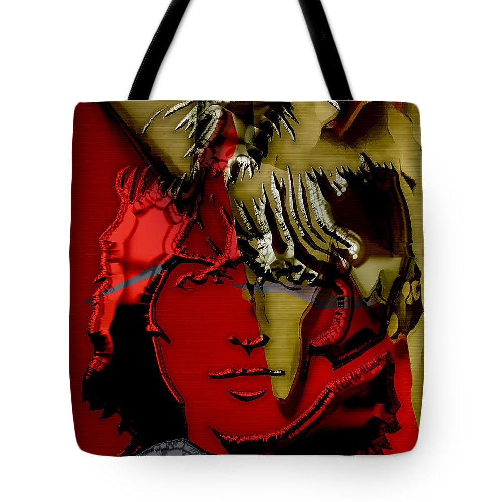 George Harrison Art Tote Bag featuring the mixed media George Harrison Art by Marvin Blaine