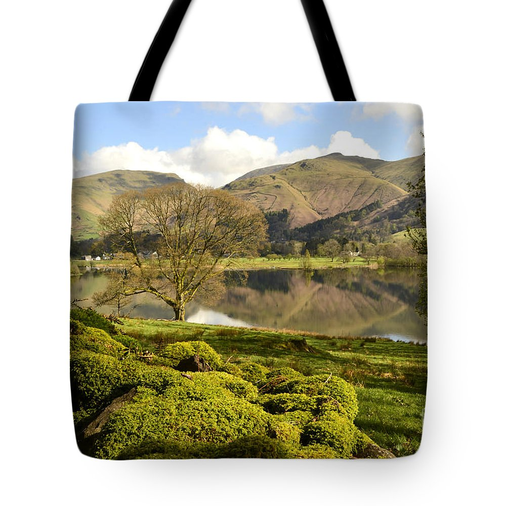 Grasmere Lake District Tote Bag featuring the photograph Grasmere by Smart Aviation