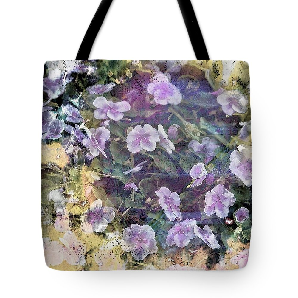 Floral Tote Bag featuring the photograph Happy by Joyce Baldassarre