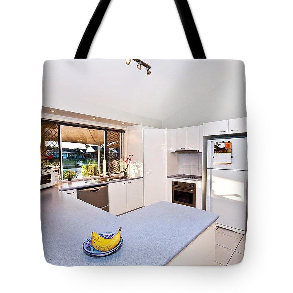 Kitchen Tote Bag featuring the photograph Kitchen by Darren Burton
