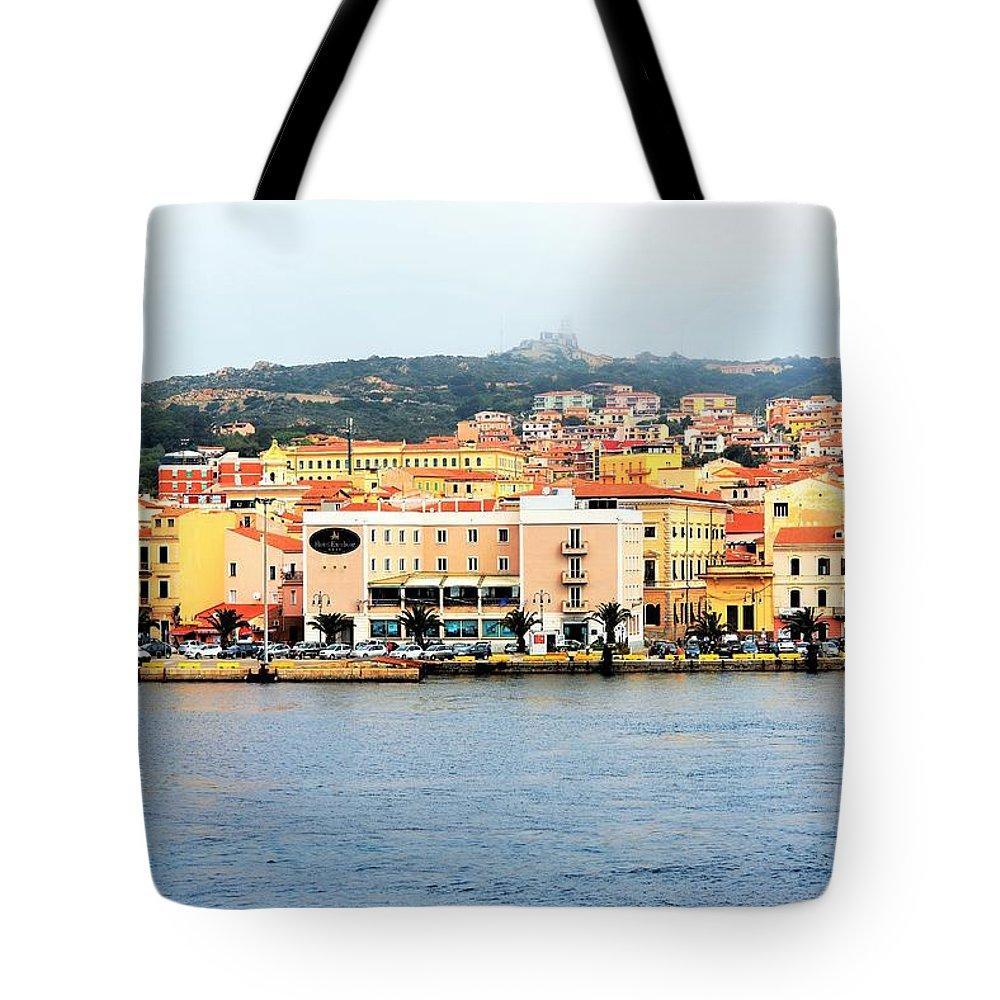 Landscape Tote Bag featuring the photograph La Maddalena -sardinia by Gianni Bussu