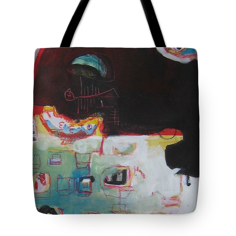 Abstract Paintings Tote Bag featuring the painting Little Bay by Seon-Jeong Kim