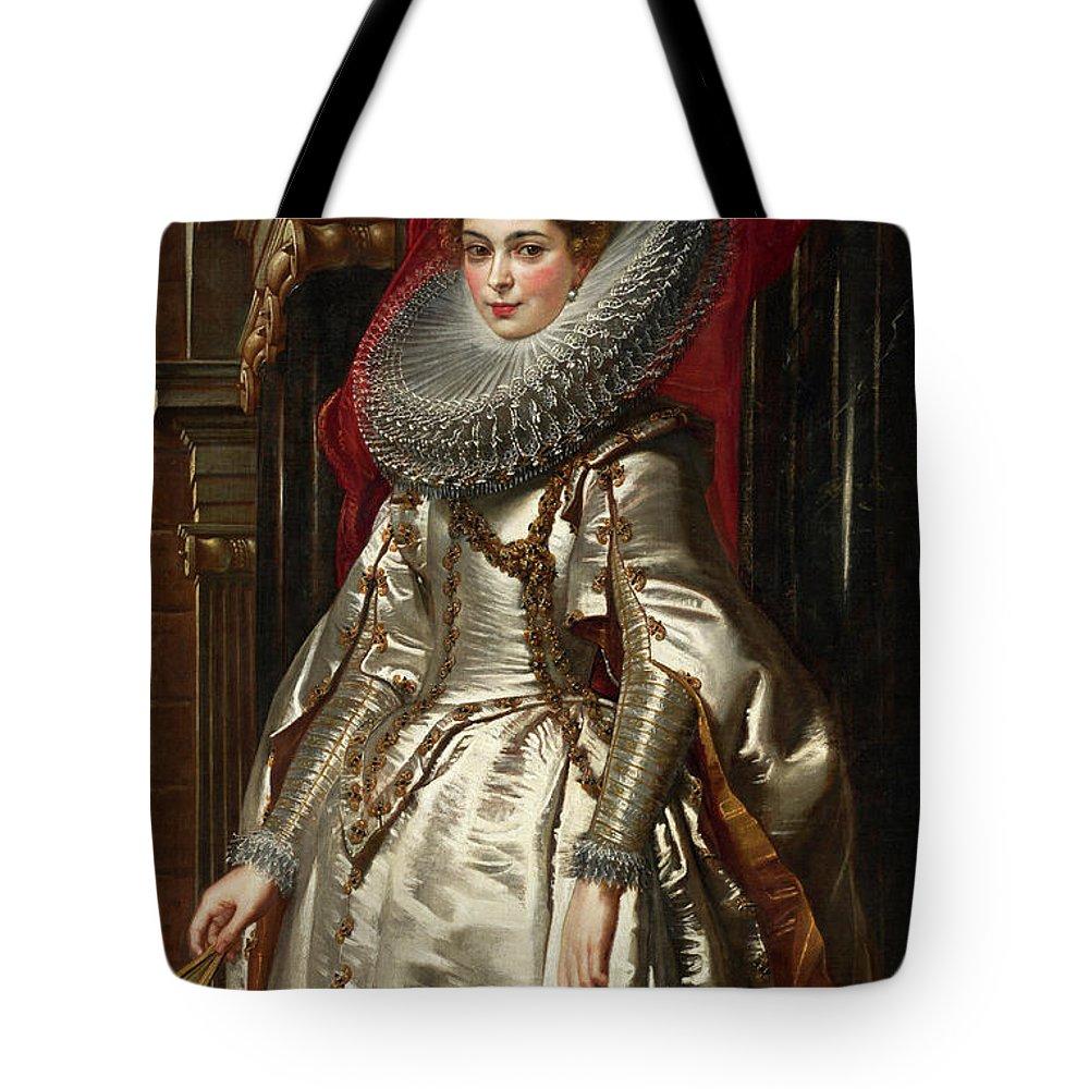 Baroque Tote Bag featuring the painting Marchesa Brigida Spinola Doria by Peter Paul Rubens