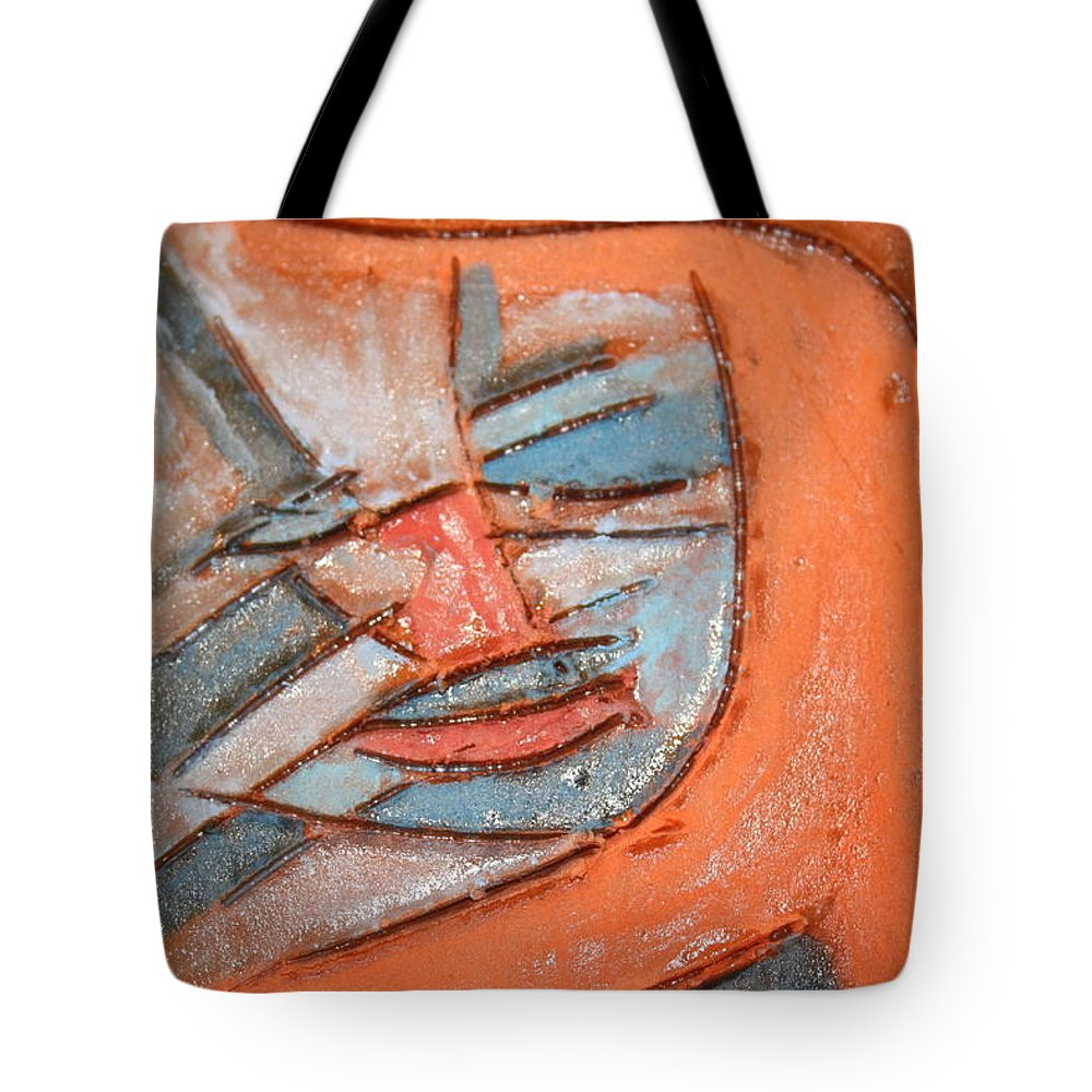 Jesus Tote Bag featuring the ceramic art Mask - Tile by Gloria Ssali