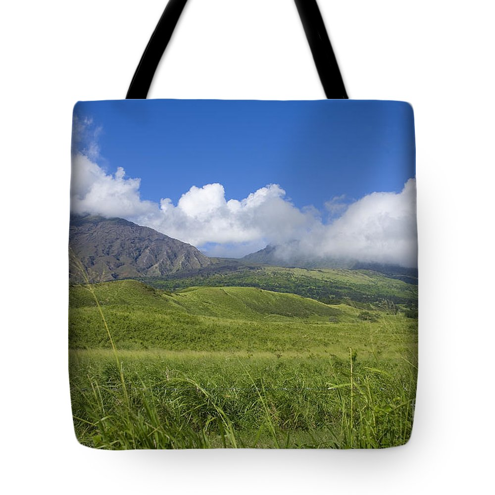 Afternoon Tote Bag featuring the photograph Maui Haleakala Crater by Ron Dahlquist - Printscapes