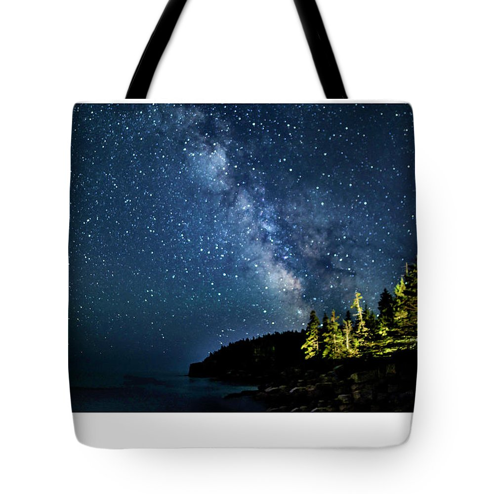02-astrophotography Tote Bag featuring the photograph Milky Way by Myer Bornstein