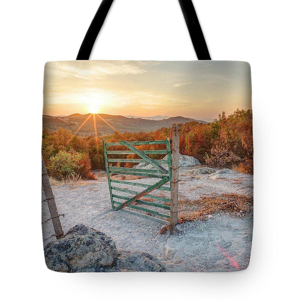 Bulgaria Tote Bag featuring the photograph Mushroom Rock Phenomenon At Sunset by Nikolay Stoimenov