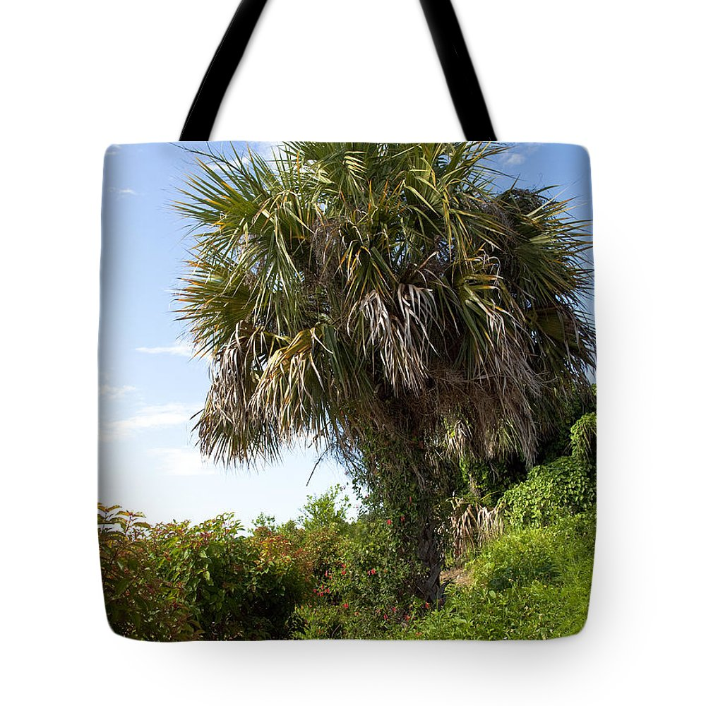 Florida Tote Bag featuring the photograph Pelican Island In Florida by Allan Hughes